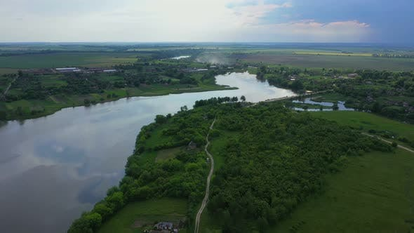 River Inflow From A Height