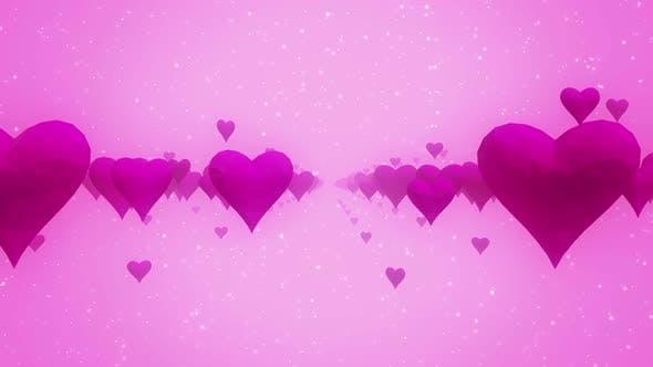 Pink Heart Bg Hd