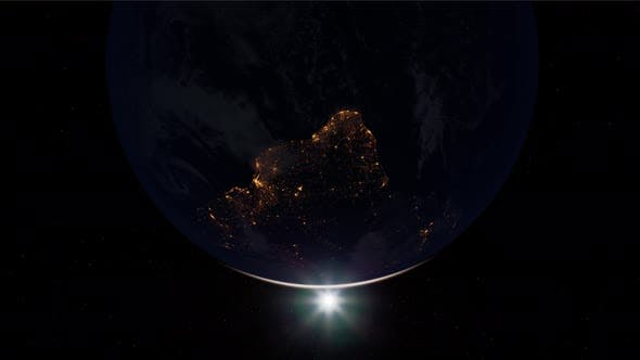 Thumbnail for Earth Globe Planet From Space Orbit