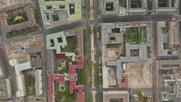 Thumbnail for AERIAL: Overhead Birds View of Empty European City Berlin Central During Coronavirus COVID-19