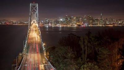 Bay Bridge San Francisco Time Lapse