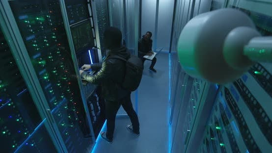 Thumbnail for Surveillance Camera Capturing Hackers in Server Room