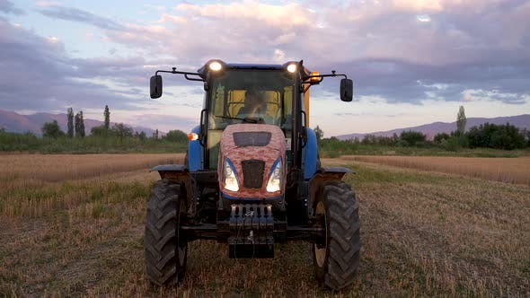 Tractor In Motion