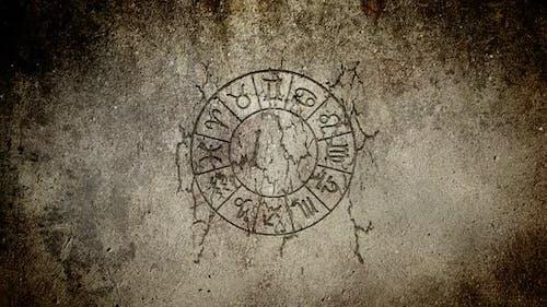 Zodiac Wheel in a Wall