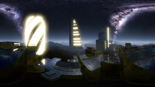 Thumbnail for City Skyline at Night Under a Starry Sky VR360