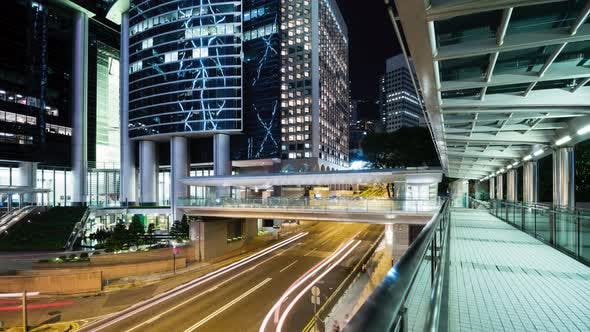 Thumbnail for Timelapse of Hong Kong central at night