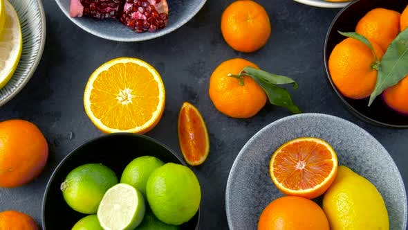 Thumbnail for Close Up of Citrus Fruits on Stone Table 38