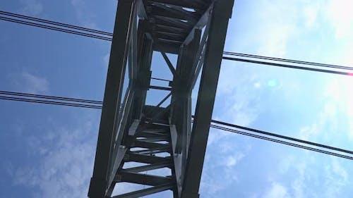 Bridge Construction On The Sky Background
