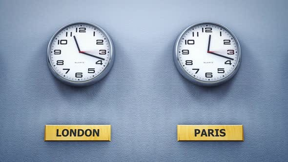 Cover Image for Office Wall Clocks Showing Different World Time