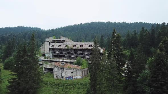 Thumbnail for Aerial View Of Ruins Of Luxurious Hotel On Olympic Sports Park Sarajevo V1