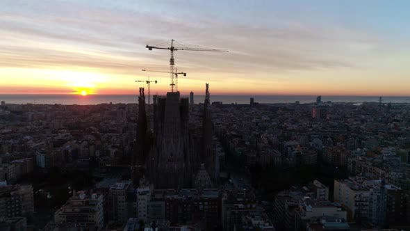 Thumbnail for Aerial View of Sagrada Familia, Barcelona