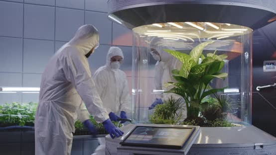 Thumbnail for Biologists Working in a Lab on a Mars Base