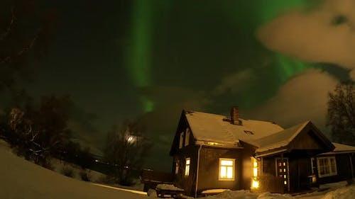 Northern Lights (Aurora Borealis) at Tromso region, Northern Norway, Arctic