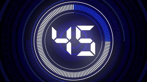 60 Seconds Countdown 4k