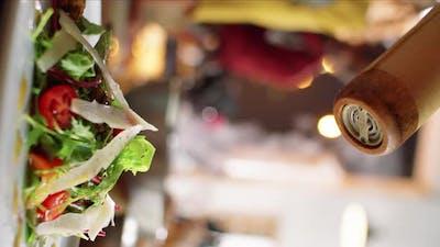 Adding Seasonings to Salad