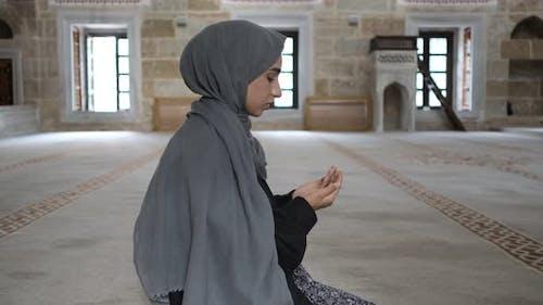 Muslim Worshiping Muslim Woman Prayer