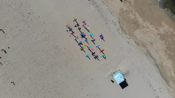 Beach Yoga Rising