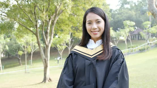 Thumbnail for Asian woman graduation