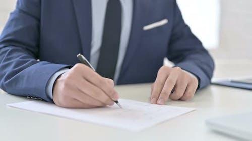 Geschäftsmann Schreiben Brief