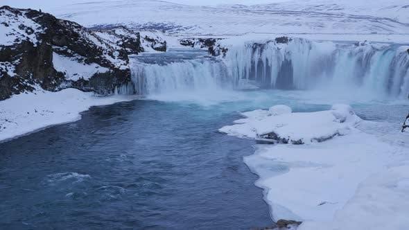 Thumbnail for Beautiful Godafoss Waterfall In Winter 12