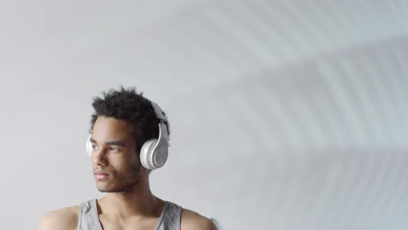 Thumbnail for Portrait of Black Man in Wireless Headphones