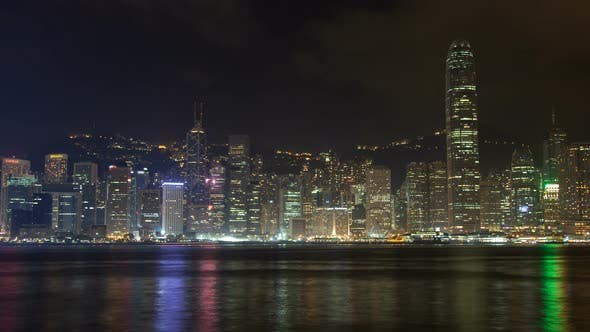 Thumbnail for Hong Kong City Urban Panorama Time Lapse China. Zoom Out