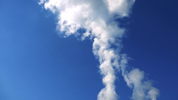 Thumbnail for Nuclear Power Station - Smoke From Chimney - Closeup - Blue Sky