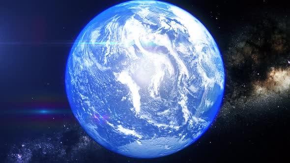 Zoom réaliste de la Terre Jaune Mer