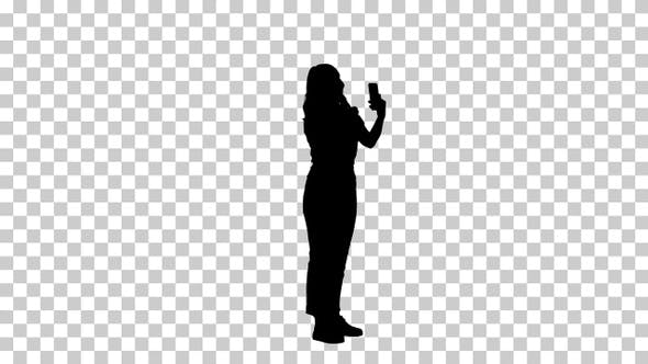 Thumbnail for Silhouette woman preening, Alpha Channel