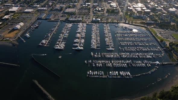 Thumbnail for Cap Sante Marina Overhead-Antenne In Anacortes Washington