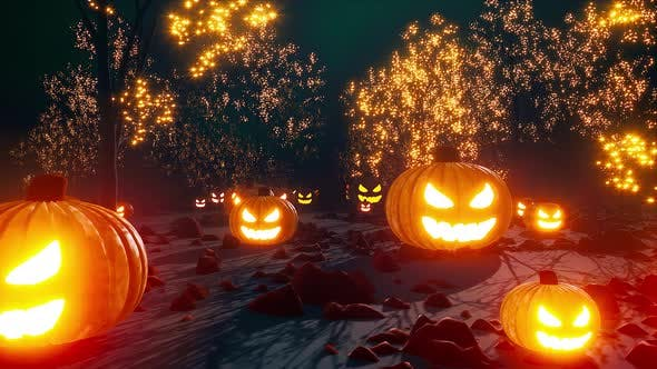 Halloween Scary Forest 4k