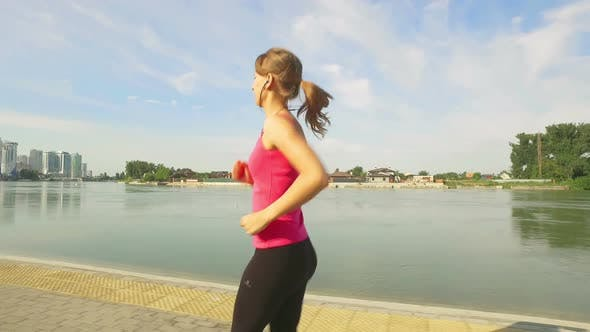 Thumbnail for Runner Woman Running In City Exercising Outdoors 7