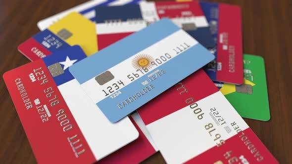 Thumbnail for Emphasized Bank Card with Flag of Argentina