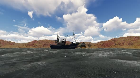 Thumbnail for Fishing boat in the sea