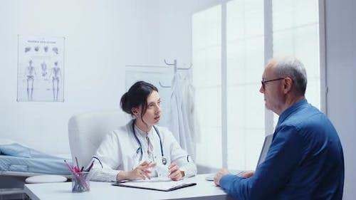 Female Doctor Recomending Pills
