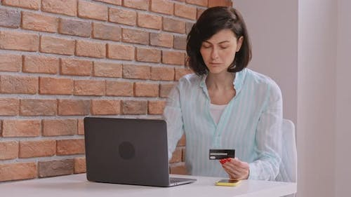 Cheerful Client Pays Online