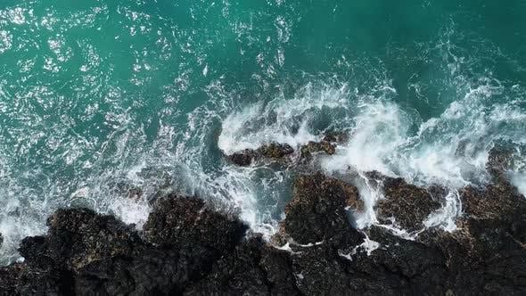 Thumbnail for Ocean Waves Breaking On Shore