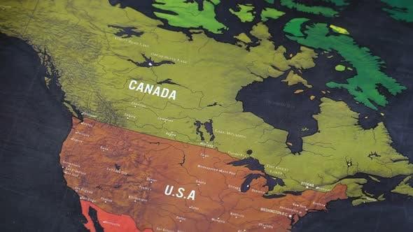 North America World Map