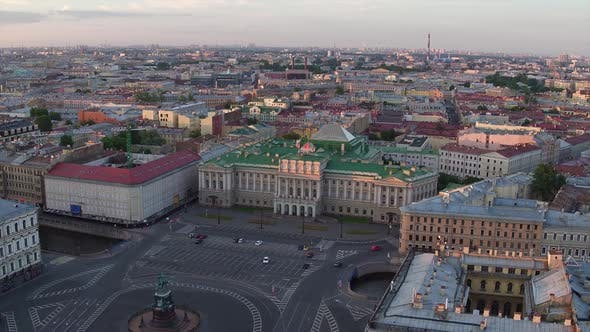 Thumbnail for Aerial View of the Historic Center of St. Petersburg, Russia