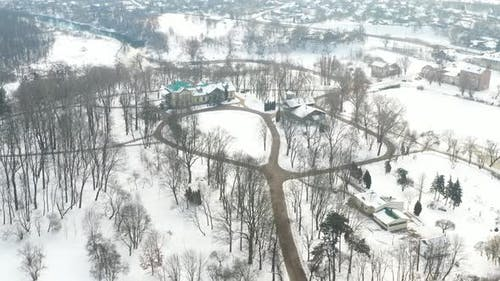 Manor in the Winter Loshitsky Park