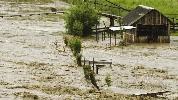 Thumbnail for Flooding, River Overflowing, Ecological Disaster, Global Warming Problem