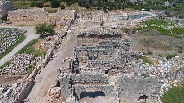 Historical Ruins at the Archaeological Excavation Site of Ancient Civilization City Before Christ