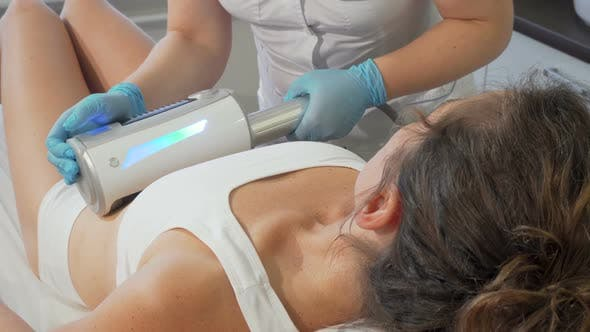 Thumbnail for Woman Getting Endospheres Therapy Massage on Her Stomach