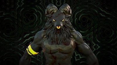 Lion Psychedelic Vj Loop