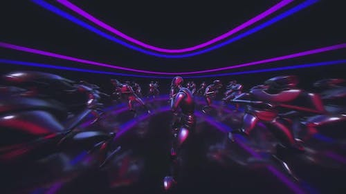 Silly Dancing Robot With Trippy Fisheye Camera Movements Hd