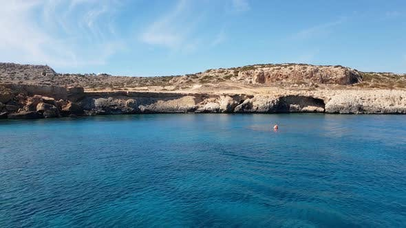Thumbnail for View From the Sea To Cavo Greco in Protaras, Cyprus