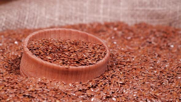 Flax Seeds Healthy Lifestyle Agriculture Whole Raw Dried Brown Flax Seeds Diet