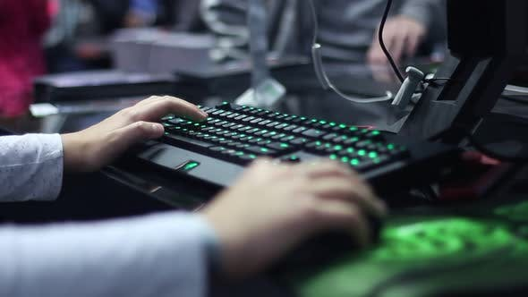 Young Gamers Play On The Modern E Sports Championship