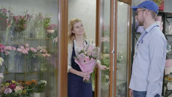 Thumbnail for Modern Flower Shop Provides Fast and High-quality Delivery of Bouquets From Flower Shop, Delivery