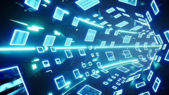 4K Futuristic Multi Screen Tunnel